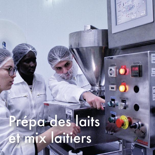 stage préparation des laits
